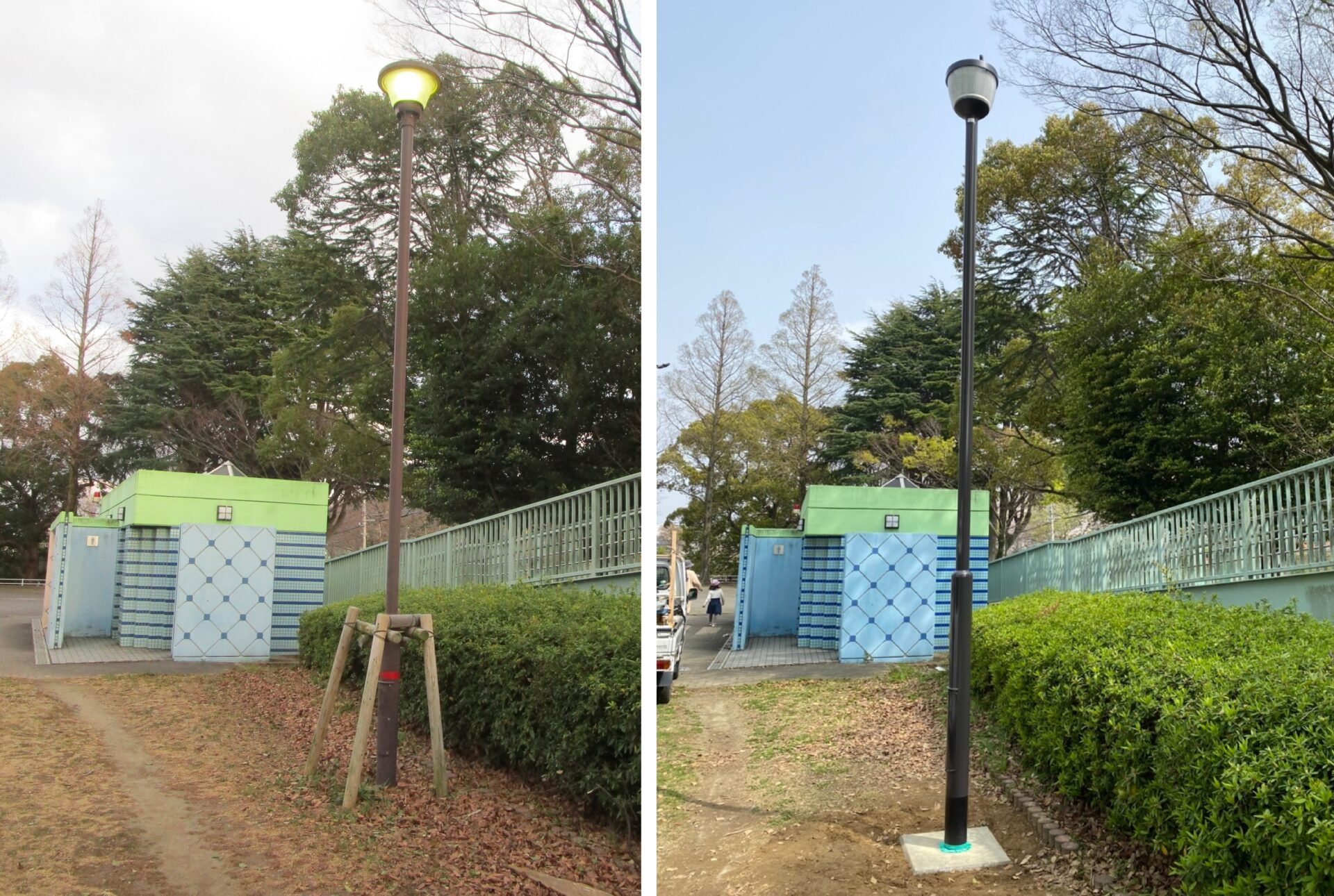 桃園公園照明改修工事(八幡東区役所発注)を施工させて頂きました。